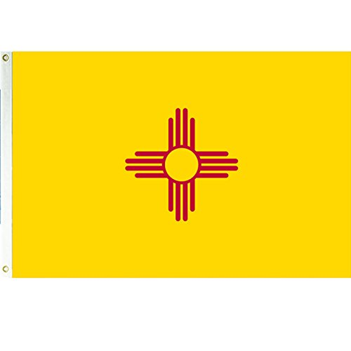 New Mexico 3x5 Polyester Flag (New Mexico State Flag)