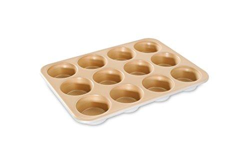 (Nordic Ware Naturals Aluminum NonStick Muffin Pan, Twelve 2-1/2 Inch Cups)