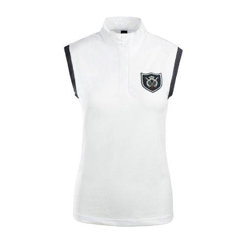 Horze Ärmelloses Turniershirt-Damen Weiß
