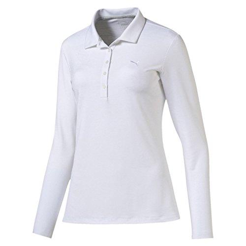 UPC 889178194151, Puma Golf Women's Long Sleeve Polo, Bright White, Large