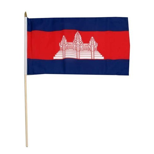 Us Flag Store Cambodia Flag, 12 by 18-Inch