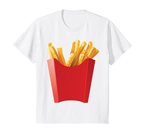 Kids GIANT FRENCH FRIES Shirt makes a great Halloween Costume 12 White -