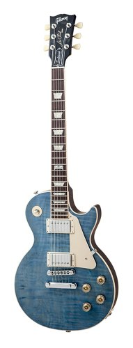 Gibson USA LPTD14OBCH1LP Traditional 2014 Ocean Blue Solid-Body Electric Guitar