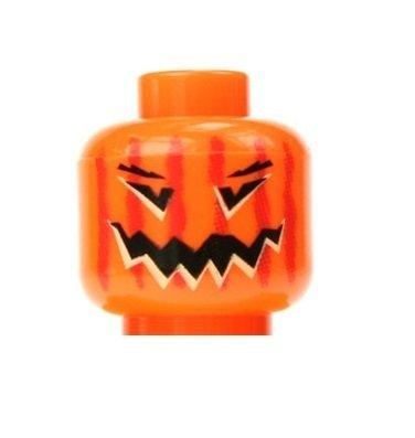 LEGO Pumpkin Minifigure Head Halloween Jack-O-Lantern