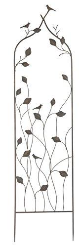 Napco Metal Leaf Vine and Birds Trellis, 62'' by Napco