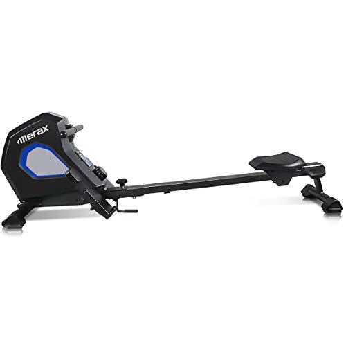 Merax MS037153BAA Indoor Magnetic Rowing Machine 8.8Lbs Folding Exercise Rower, Black