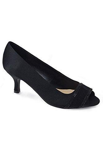 Casely pochette élégant flr419 TALONS Diamant Chaussure lacets Boutique ESCARPINS Noir Seulement Fantasia ouvert bout femmes EgAfxRwq