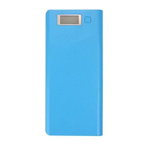 Yoyorule 5V 3A Dual USB 18650 Power Bank Battery Box Charger For iPhone 6 Plus S6 LG SONY NOKIA (Blue)