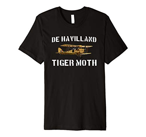 DH.82 Tiger Moth Biplane WWII Plane T shirt Gift Premium T-Shirt