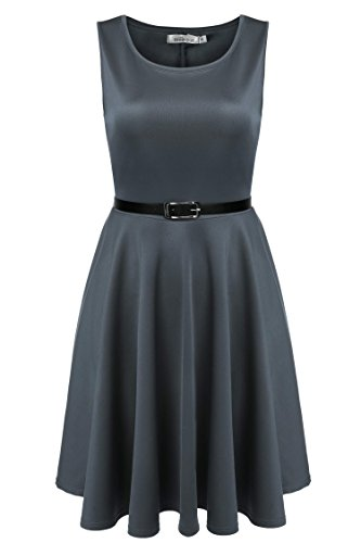 Buy belted a line dress - 4