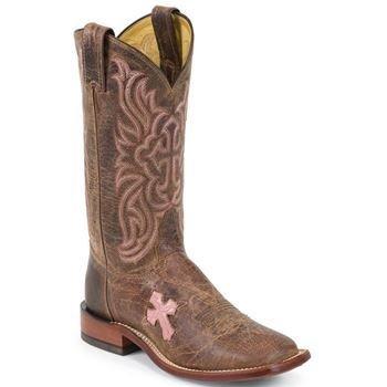 Tony Lama Women's Chocolate Goat Cross TC1005L Boot,Tan,9 B US (Goat Cowboy Boots)