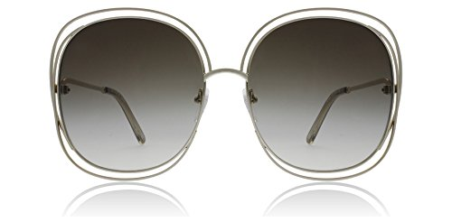 Chloe Women's Carlina -  CE126SL Gold/Transparent Green - Sunglass Chloe