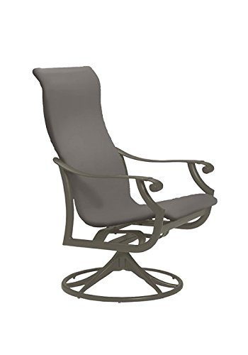 Tropitone by Casual Living Montreux Woven Swivel Rocker, Weathered Gray, Mocha - Montreux Swivel
