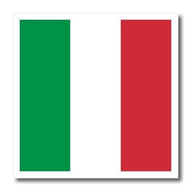Vertical Italian - 3dRose ht_158341_1 Flag of Italy Square Italian Green White Red Vertical Stripes European Europe World Travel Souvenir Iron on Heat Transfer Paper for White Material, 8 by 8
