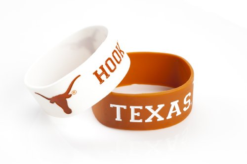 UPC 763264967860, NCAA Texas Longhorns Silicone Rubber Bracelet, 2-Pack