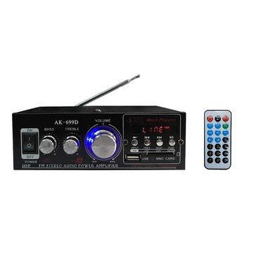 180W+180W Power 2 Channel USB Black Car Audio Amplifier with Remote - Car Audio & Monitor Car Amplifiers]()