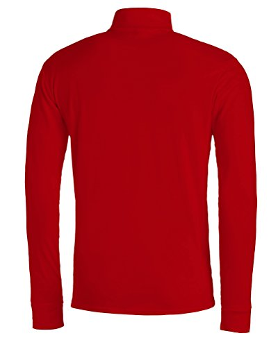 Coton À Manches Medico Col Roulé shirt Ski Red De Fermeture T Longues Ferrari 100 Éclair awwCq0p