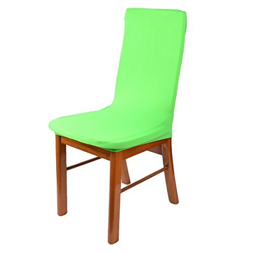 Amazon.com: Spandex Festa Casamento Casa DealMux Elastic reutilizável lavável Chair Seat Cover Protector Verde: Home & Kitchen
