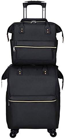 二重肩のトロリーはトロリーバックパックの大容量旅行袋の車輪が付いている屋外旅行学生の荷物袋カート袋のトロリー袋を袋に入れます