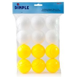 Pack of 12 Durable and Lightweight Kids Plastic Toy Balls by Dimple – Perfect for Training & Practice • – Great for wiffle ball, catch and Other Sport's