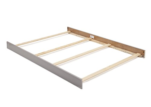 Full Size Conversion Kit Bed Rails for Baby Cache Vienna Cribs in Ash Grey (Large Cache)