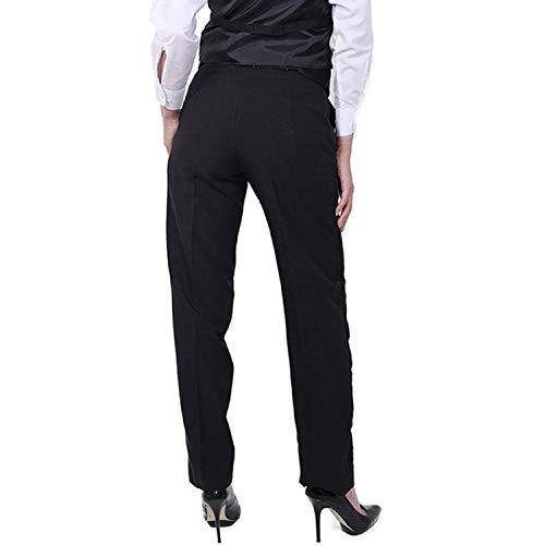 30e3834226c SixStarUniforms Women's Plain Front Tuxedo Pants Black at Amazon Women's  Clothing store: