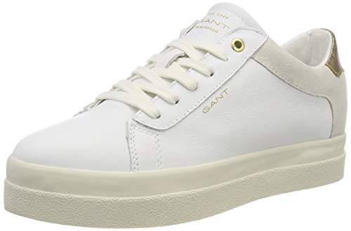 Bright Amanda Gant White Trainers Women's White G290 I8ITRBwq