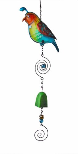 Continental Art Center CAC10387B Quail Wind Chime, 22.5 by 6.3 by 1.5-Inch