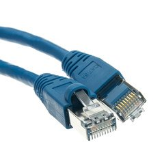 Dealsjungle Shielded Cat6a Blue Ethernet Patch Cable, Snagless/Molded Boot, 500 MHz, 75 foot