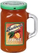 Blackburn's Preserves & Jellys 18oz Jar (Packed in a Glass Reusable Handled Mug) (Apricot Preserves)