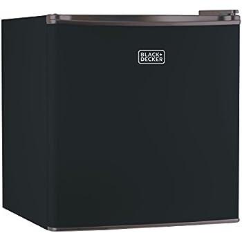 BLACK+DECKER BCRK17B Compact Refrigerator Energy Star Single Door Mini Fridge with Freezer, 1.7 Cubic Ft., Black