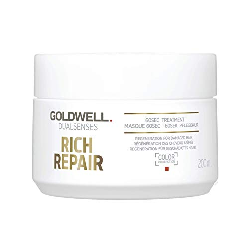 - Goldwell Dual Senses Rich Repair 60Sec Treatment (Regeneration for Damaged Hair) 200ml/6.7oz