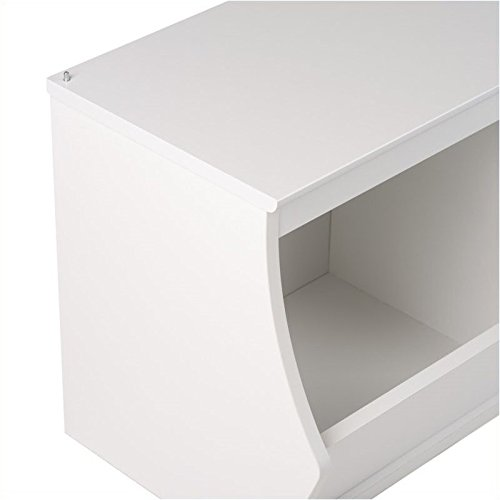 Hawthorne Collections Stackable 3-Bin Storage Cubby in White by Hawthorne Collections (Image #3)