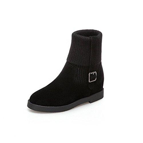 Grueso de Moda con Botas y DEDE cañón de Botas Sandalette black de Grandes de Ocio de Mujer Mujer WwvaXAz0q