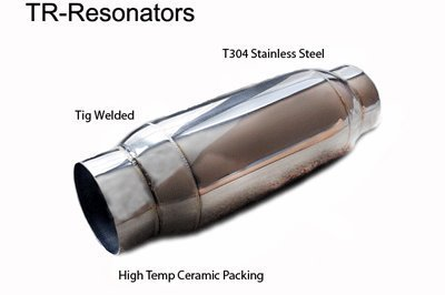 Aero Exhaust TR25.1 t304 stainless resonator, glass pack, 10.5
