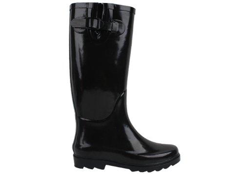 Black Rain Boots - 1