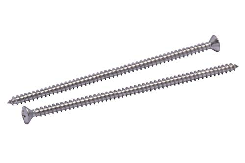 """#10 X 4-1/2"""" Stainless Oval Head Phillips Wood Screw, (25pc), 18-8 (304) Stainless Steel Screws by Bolt Dropper"""
