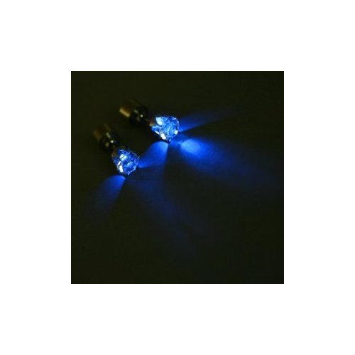 FreshGadgetz Set Of One Amazing Pair Of Blue Crown LED Earrings And One Pair Of Purple Crown LED Earrings
