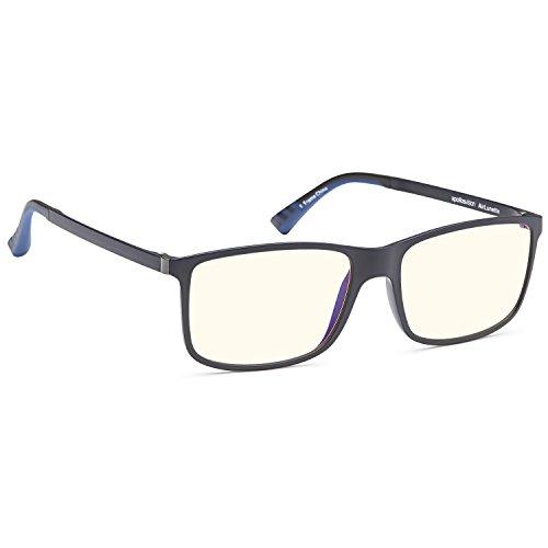 Price comparison product image AV AirLunette Anti UV Glare Blue Light Reducing Computer Gaming Glasses in Lightweight Flexible Nylon Navy Frame