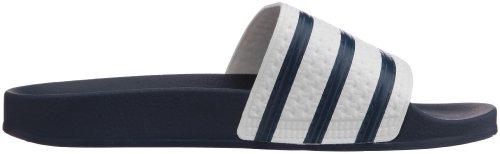 Adidas Hombres Adilette Sandalias Sintéticas Blanco / Azul
