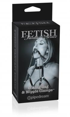 Gift Set Of Fetish Fantasy Series Limited Edition O-Ring Gag & Nipple Cla... by Pipedream Products
