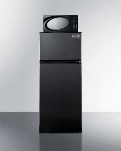 Summit Refrigerator/Microwave Stacked Combo with Single Plug Model MRF1119B
