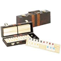 Deluxe Rummy with Wooden Racks in Attache - Las Grand Vegas Bazaar