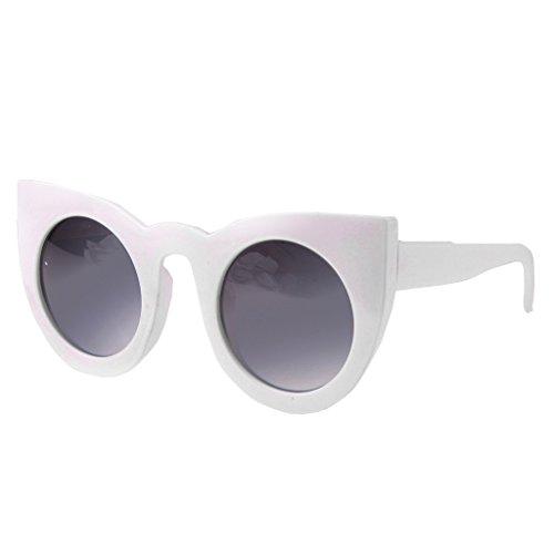 Lunettes Blanc Rétro MagiDeal Design Pour Femmes Unique Accessoire De Soleil Style Eye Cat pZwxadq7wB