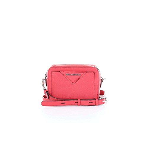 Sac à bandoulière Karl Lagerfeld en peau saffiano rouge