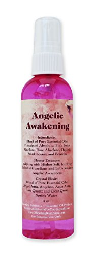 Angelic Awakening Spray ~ Gift ~ Essential Oils and Flower Essences ~ Crystal Elixir ~ Love