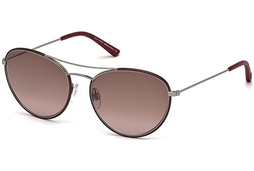 Tod's TO0156 - 69Z Silver/Burgundy Sunglasses