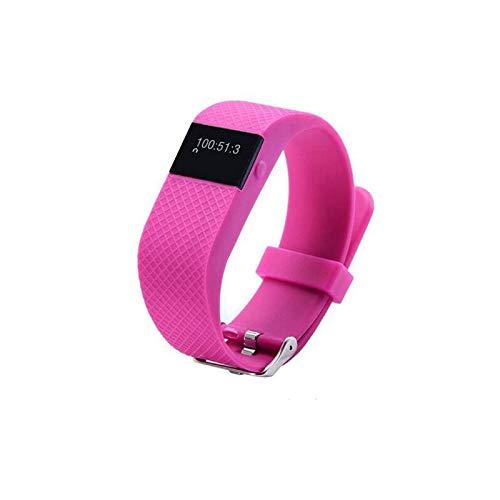 TW64S Sleepping Monitor Health Fitness Tracker Watch, Waterproof Sports Step Intelligent Wristband (Pink) ()