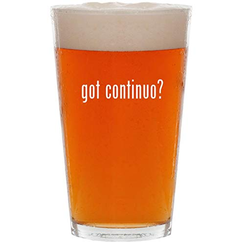 (got continuo? - 16oz Pint Beer Glass)