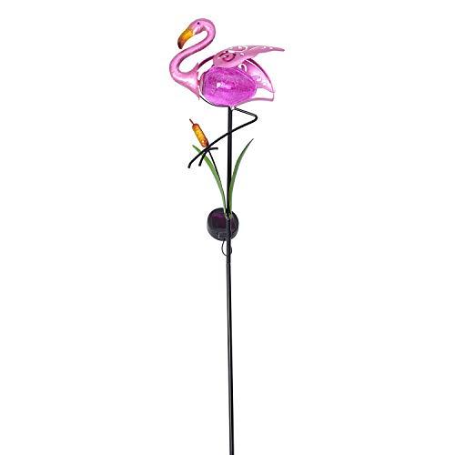 - Shop LC Delivering Joy Flamingo Stake Pathway Solar LED Light 36x8